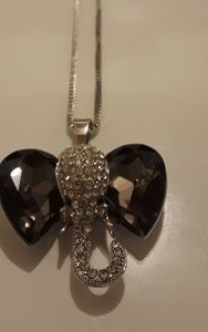 Betsey Johnson elephant necklace new